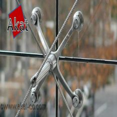 شرکت آکات سازنده نمای اسپایدر شیشه ای کابلی
