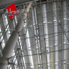 نمای شیشه ای اسپایدر کابلی آکات