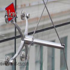 نمای ساختمان اسپایدر کابلی