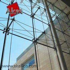 نمای شیشه اسپایدر کابلی