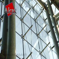 نمای شیشه اسپایدری