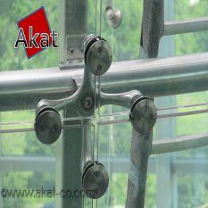 نمای اسپایدر شیشه ای استیل