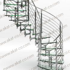 پله استیل,پله استیل پیچ,پله استیل گرد,قیمت پله استیل