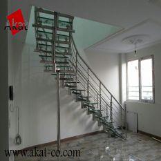 پله استیل گرد