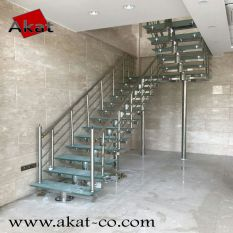 پله استیل مفصلی