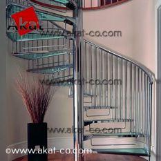 پله استیل مارپیچ