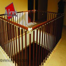 نرده آلومینیومی طرح چوب پایه عمودی لوله به قطر 40 میلمیتر