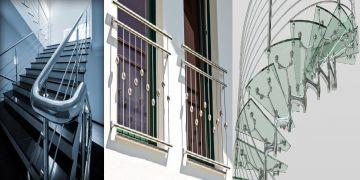 نرده استیل/حفاظ استیل/پله استیل/کاور استیل