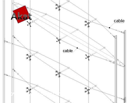 نمای اسپایدر کابلی